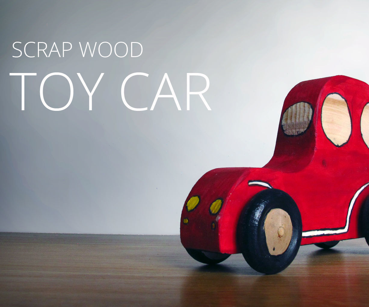 Wooden toy push car