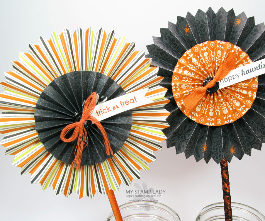 How To make Halloween Rosettes or Flowers
