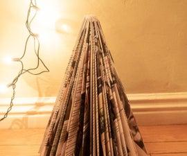简单的杂志圣诞树