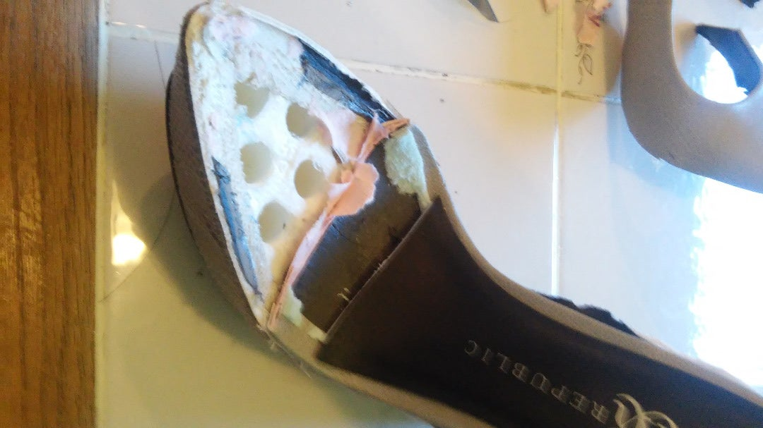 Cut Into the Toe of the Shoe