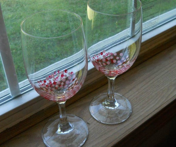 Adorable Painted Wine Glasses