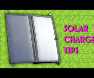 Making the Most From a USB Solar Charger