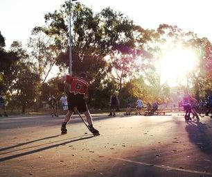 为街上加强冰球棍棒