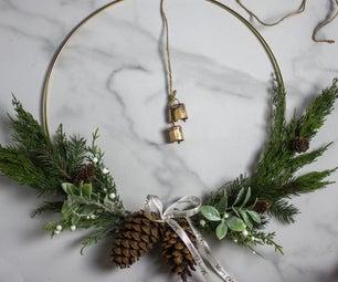 Brass Ring Christmas Wreath