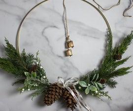 黄铜戒指圣诞花环