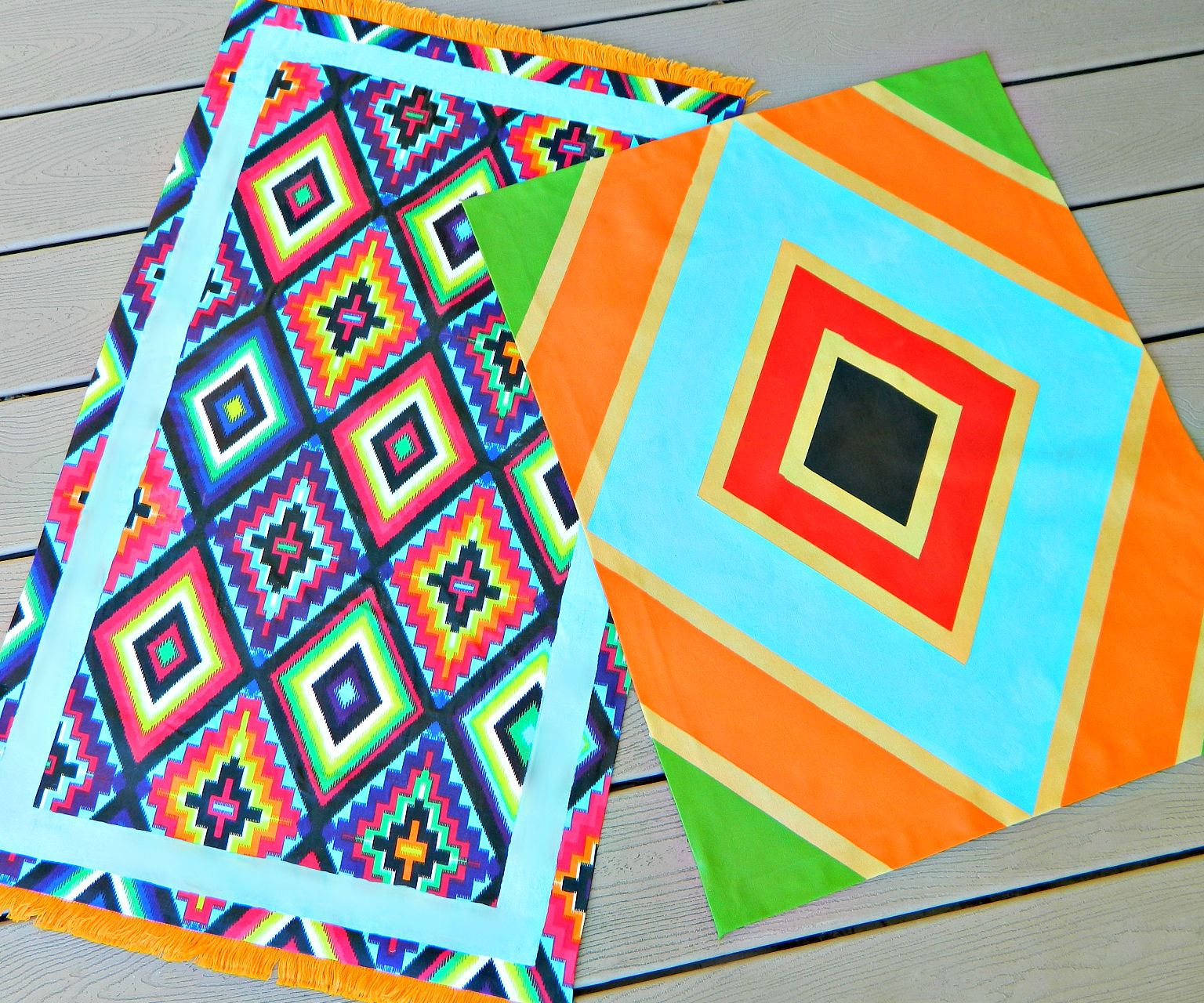 Painted Fabric Rugs