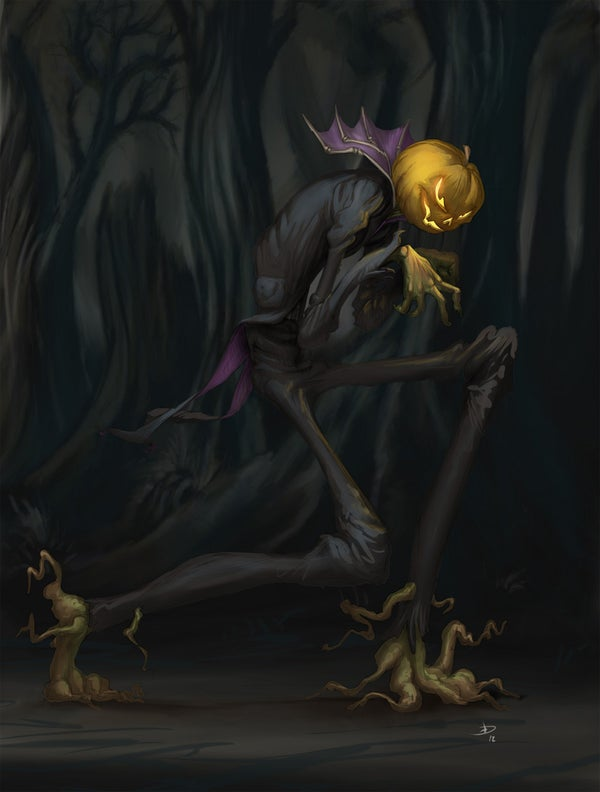 Step by Step to Paint a Halloween Draw
