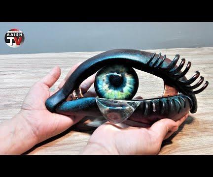 How to Make Eye Sculpture With Tear in Metallic Look   Resin Art   Plaster of Paris Art.