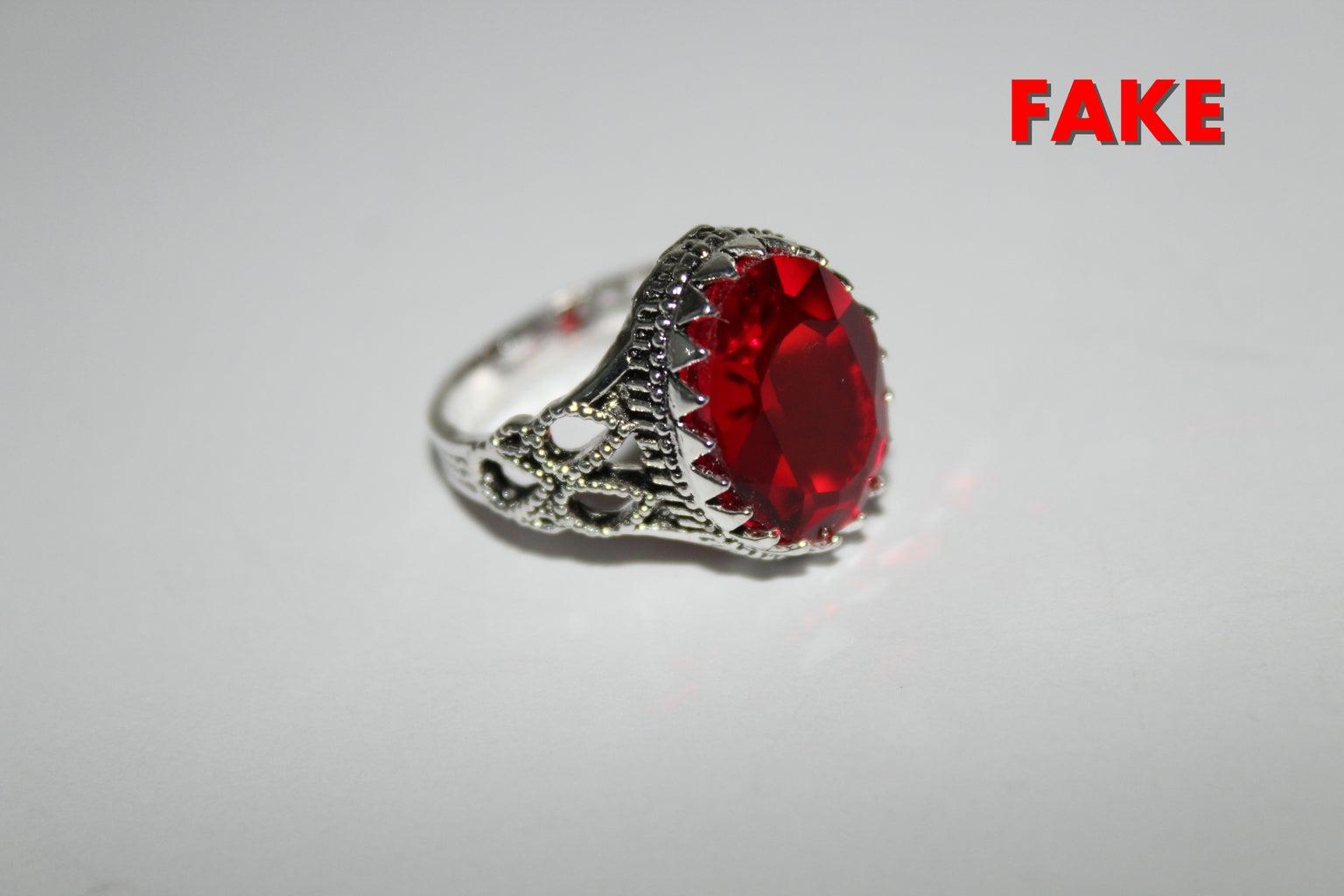 Fake Red Heparin Agate