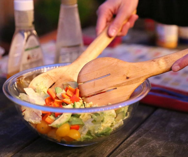 Simple Wood Salad Servers