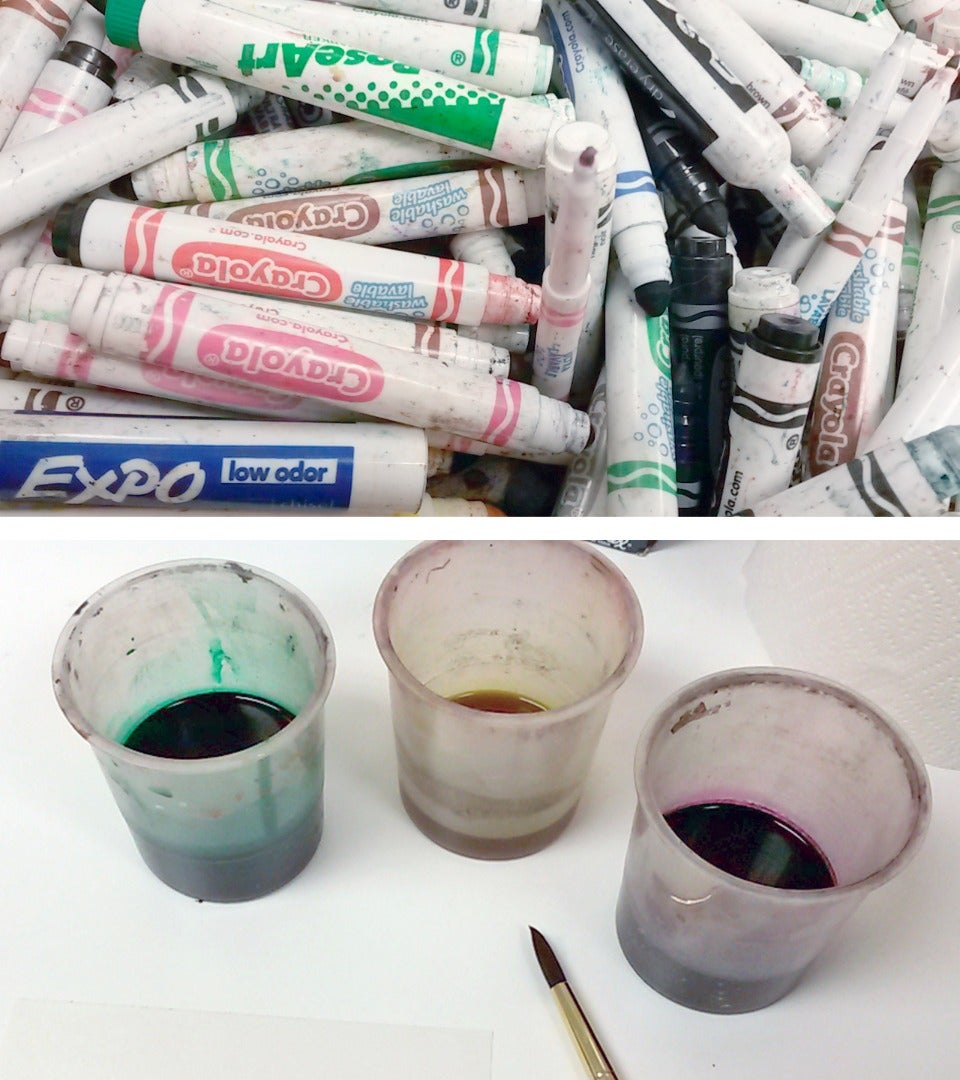 Liquid Watercolors From Dry Markers