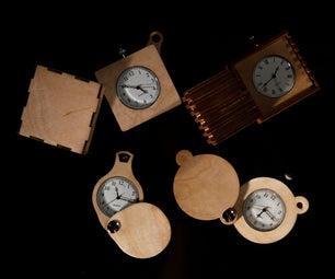 Laser Cut Pocket Watches