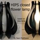 HIPS closed flower lamp
