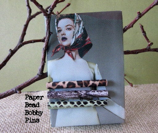 Bobby Pins - DIY From Paper