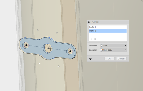 Create the Mounting/assembly Tabs