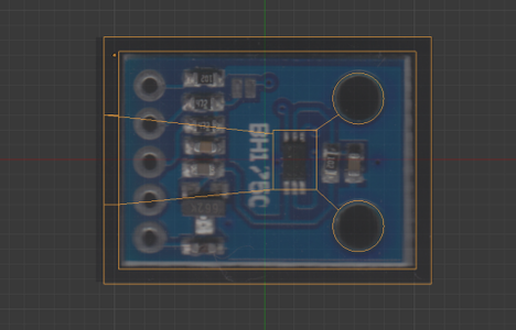 Making a 3D Printer Data of Case for Electronic Module by Blender.