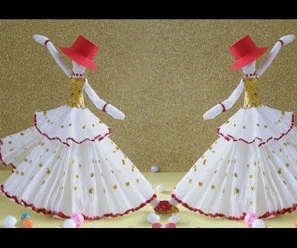 DIY Paper Crafts : How to Make Amazing Dancing Doll From Tissue Paper