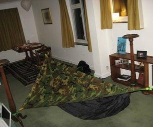 DIY Asymmetrical Hammock Tent With Tarp  ( Homemade Hammock Tent )