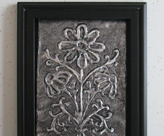 How to Make Embossed Metal-looking Tinfoil Art