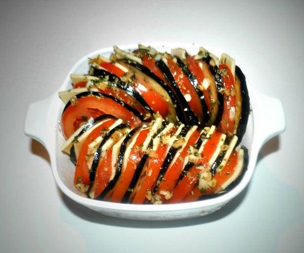 20 Min - Eggplant & Tomato Gratin
