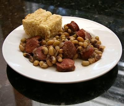 Smoked Sausage and Black-Eyed Pea Casserole