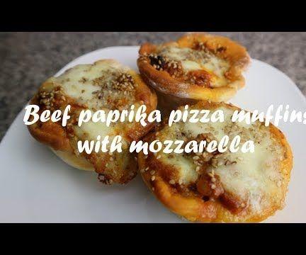 Beef Paprika Pizza Muffins With Mozzarella Recipe