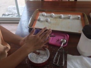 Step 3: Coating the Dough Balls