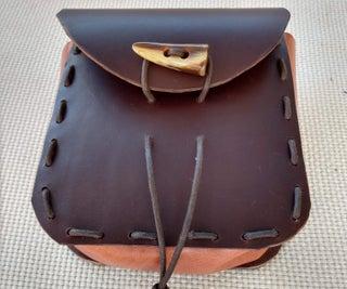 Laced Leather Belt Bag