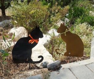 Metal Yard Decoration Cat