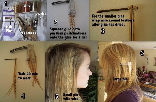 Feather Hair Pins