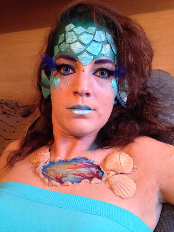 Mermaid Halloween Make-up