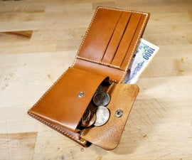 皮革硬币袋钱包