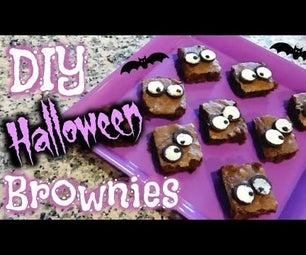 DIY Halloween Googly Eyes Brownies │ Homemade Halloween Treats