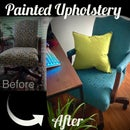 Painted Upholstered Desk Chair