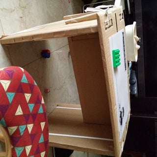 Simple Knock-down Cardboard End Table (flat Pack)