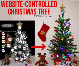 Website-Controlled Christmas Tree (Anyone Can Control It)