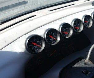 DIY Automotive Dashboard Gauge Pod