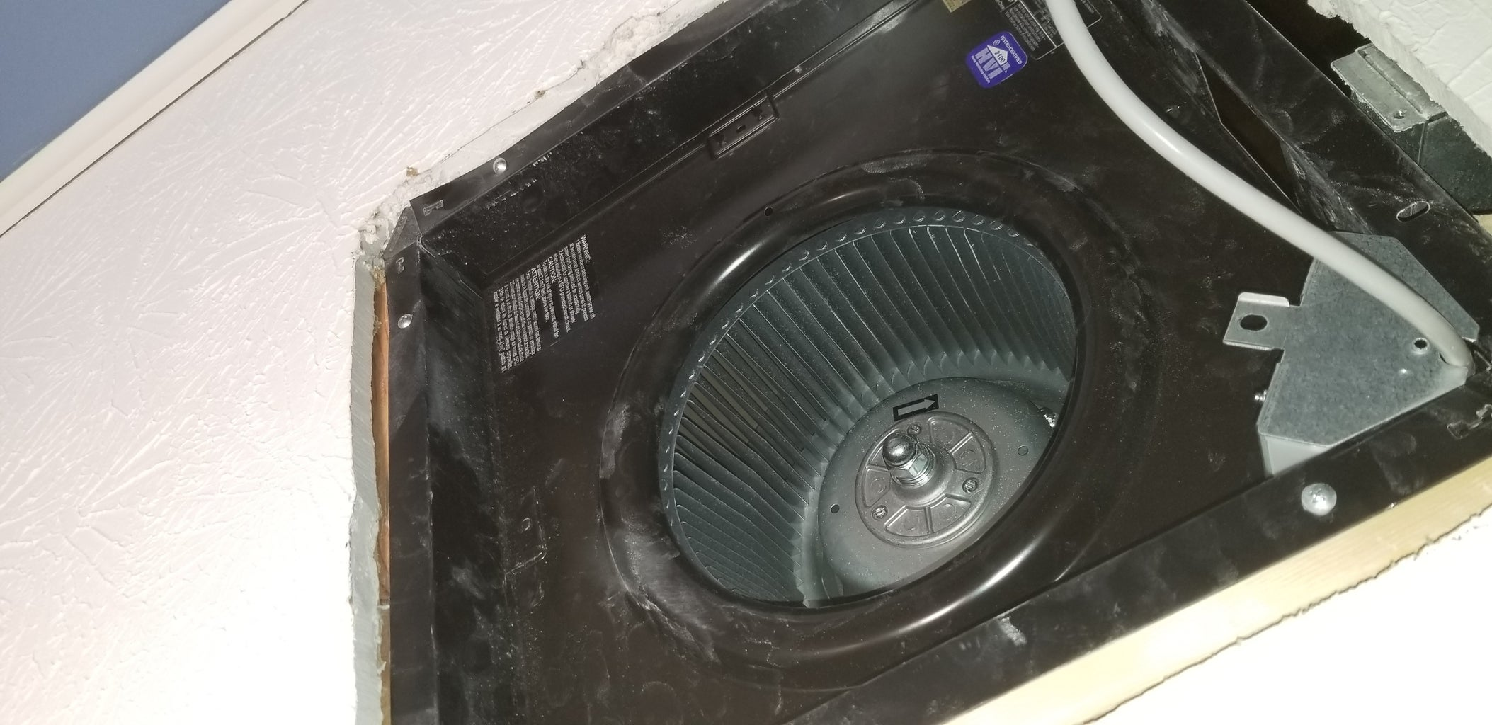 Remove the Inner Housing, Exhaust Vent, and Electrical Box; Install the Fan