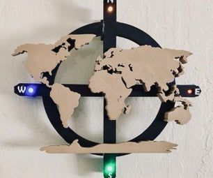 3D Printed World Map Wall Art (Made in Fusion 360)