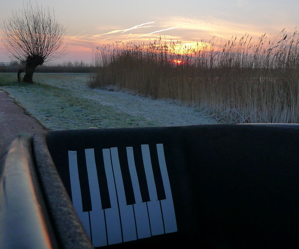 Decorative Piano Keyboard from Duct Tape