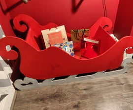 Plywood (or MDF) Sleigh to Display Christmas Gifts