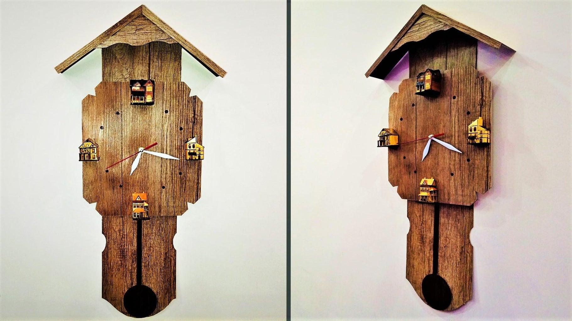 How to Make Backlit Pallet Clock Wall Art