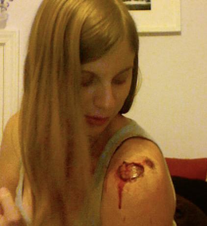 Halloween How-to: Shoulder Wound