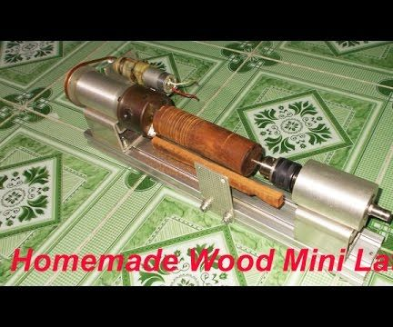 Homemade DIY Mini Wood Metal Lathe by Cordless Drill