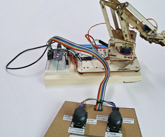Making a MeArm Joystick Pad