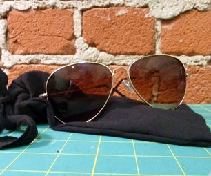 Sunglasses Case From a T-Shirt Sleeve
