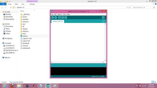 Open Arduino IDE