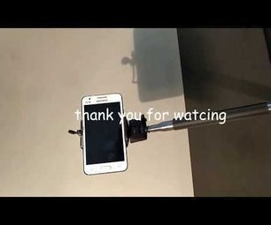 How Convert a Selfie Stick to a Smartphone Clip Holder