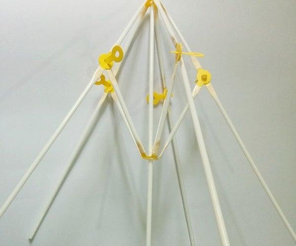 Fancy Umbrella Using Straws