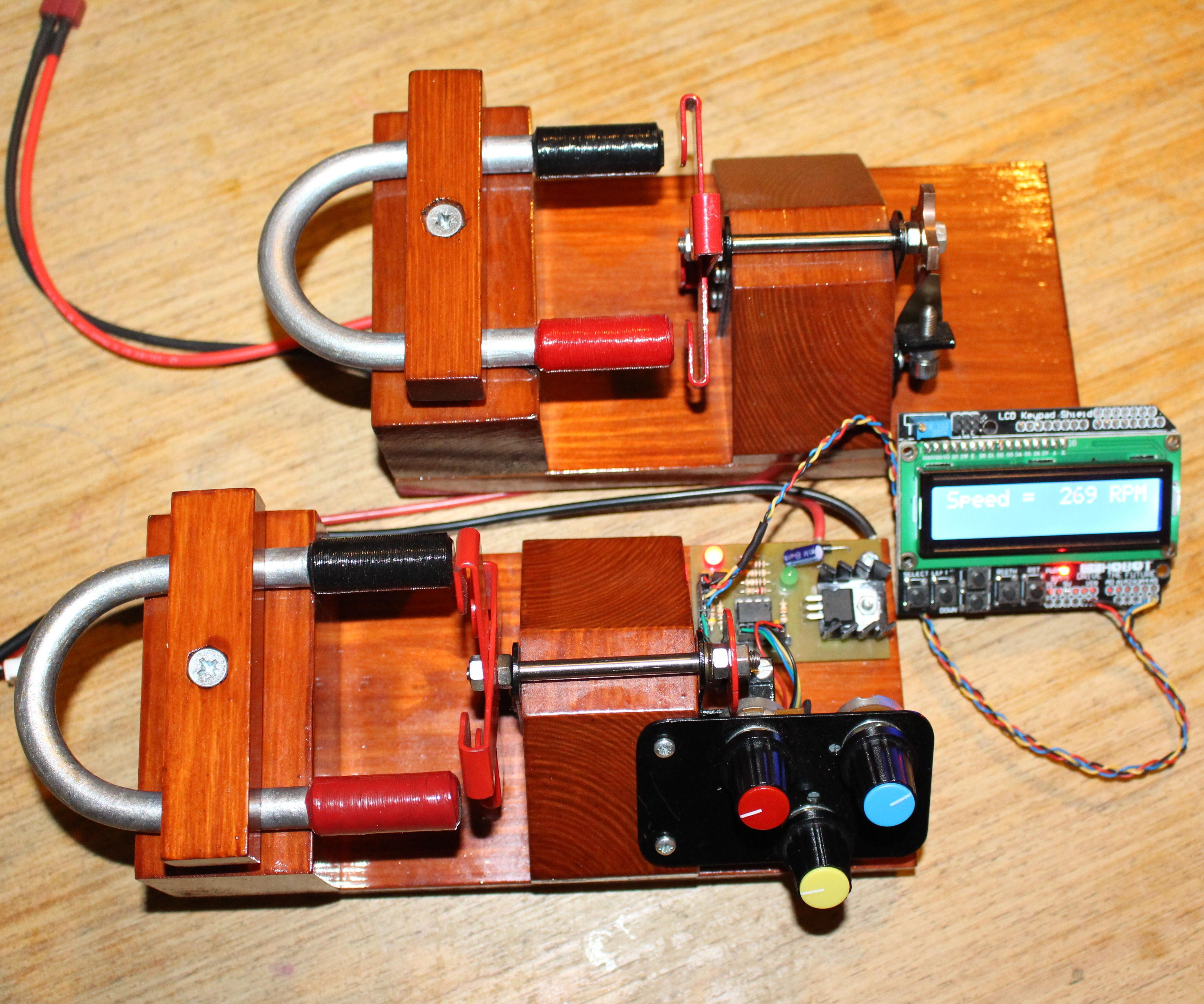 Electronic Motor Control using optical pick up.